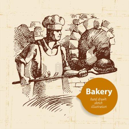 Bakery sketch background.