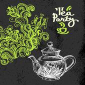 čaj vinobraní pozadí