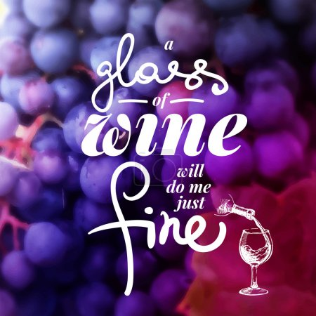 Illustration pour Carte des vins typographique. Illustration vectorielle dessinée main. Conception de menu - image libre de droit