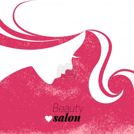 Illustration for Beautiful woman silhouette. Vector illustration - Royalty Free Image