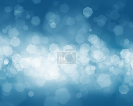 Cold winter blurred bokeh background