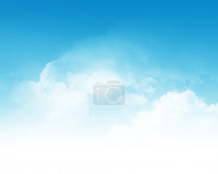 Photo for Cloudy blue sky abstract background - Royalty Free Image