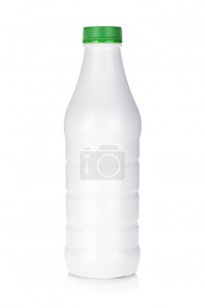 Plastic bottle of diary product