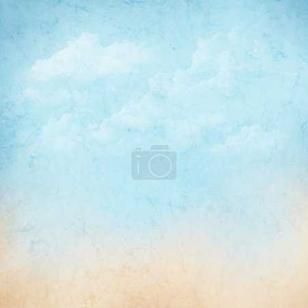 Photo for Vintage abstract nature sky with clouds background - Royalty Free Image