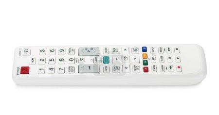 White TV remote control