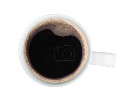 Photo for Coffee cup. View from above. Isolated on white background - Royalty Free Image