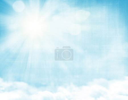 Photo for Sunlight and blue sky grunge background - Royalty Free Image