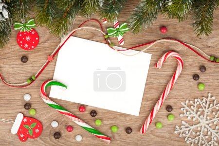 Blank christmas greeting card
