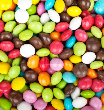 Colorful candies closeup