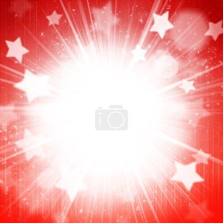 Photo pour Fond de vacances abstrait avec étoiles et flocons de neige - image libre de droit