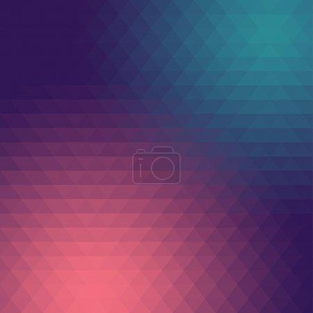 Illustration pour Abstrait triangle mosaïque dégradé coloré fond - image libre de droit
