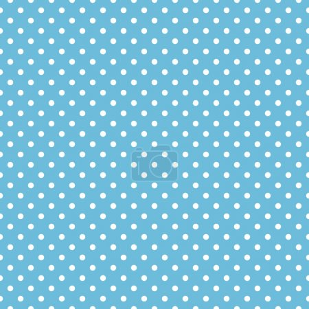 Illustration for Seamless blue polka dot background pattern - Royalty Free Image