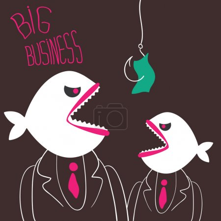 Angry business-fishes