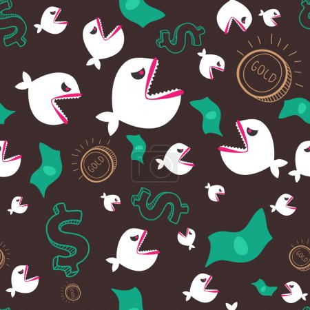 Angry fishes and money
