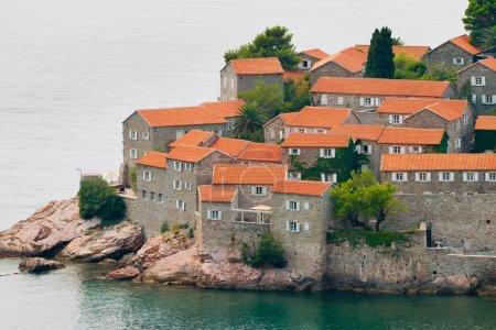 Sveti Stefan (St. Stevens) island in Montenegro