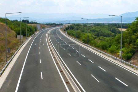 Empty highway view