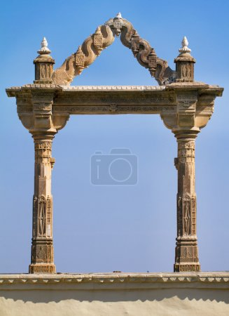 Archway at the City Palace in Udaipur in Rajasthan