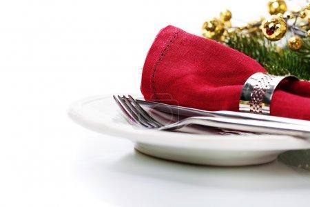 Photo pour Tableau de Noël place d'avec des décorations de Noël - image libre de droit