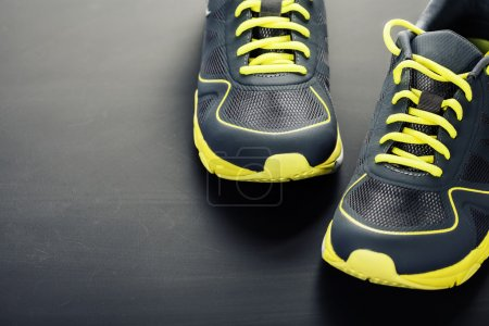 Sport shoes on grey background...