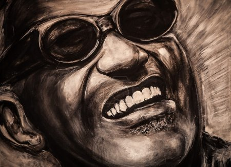 Photo for Portrait of a famous musiciant Ray Charles - Royalty Free Image