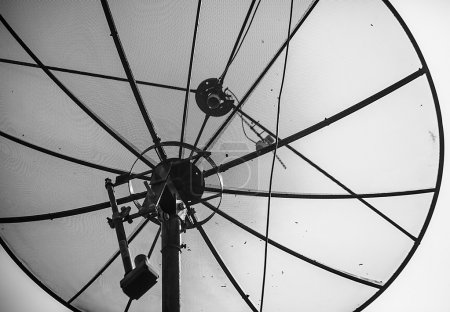 Satellite antenna. Close up photo