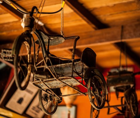Photo for An old and rusty tricycle - Royalty Free Image