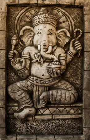 Photo for Hindu God Ganesh with Clipping Path - Royalty Free Image