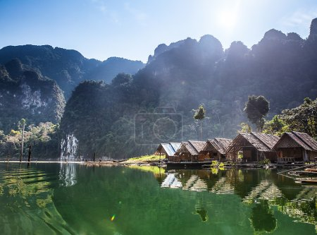 Rocks in Islands with overwater bungalows