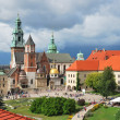 Krakow, Poland. Wawel Cathedral on the background ...