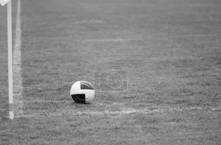 Soccer Ball near the Corner