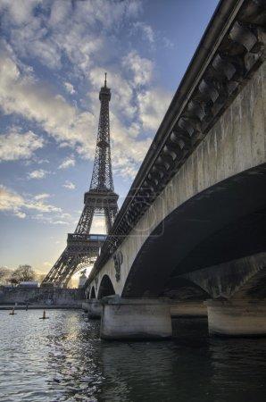 Photo for La Tour Eiffel with Pont d'Iena - Paris - France - Royalty Free Image