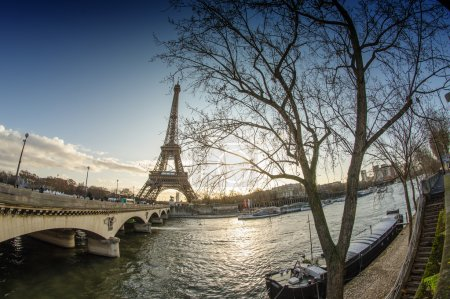 Sunrise in Paris, with the Eiffel Tower - Tour Eiffel from Troca