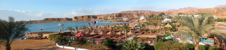 Sharm el Sheikh - Panoramic view of beach and mountains