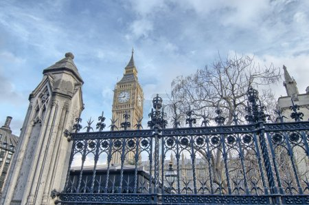 Westminster Abbey and Big Ben, beautiful view from street level