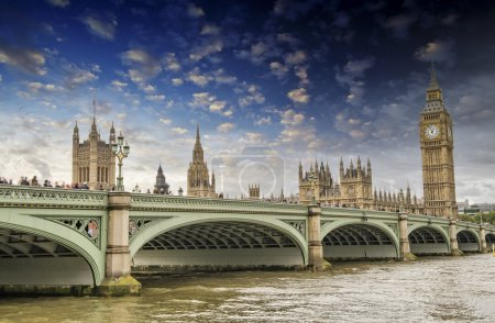 London, UK - Palace of Westminster (Houses of Parliament) with B