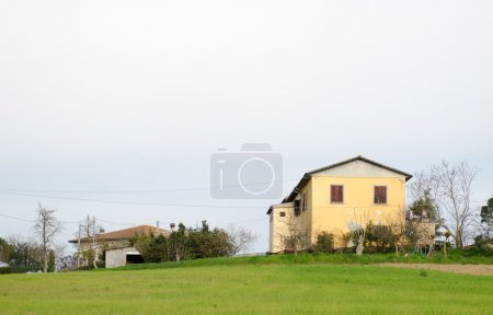 Tuscany, Italy. Isolated House on a beautiful countryside landsc