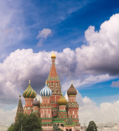 Intercession Cathedral (St. Basil's) of Moscow Kremlin at Red Sq