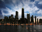 Wonderful Chicago Skyline at sunset