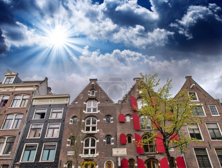 Beautiful Amsterdam typical streets and buildings