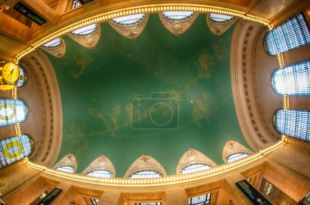 The constellation ceiling of Grand Central Terminal, New York.