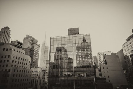 Photo for Wonderful panorama of New York Buildings from a Manhattan rooftop. - Royalty Free Image