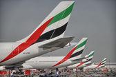 DUBAI - AUG 7: Emirates Airplane in the Dubai airport, UAE