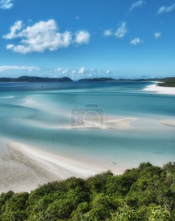Great Barrier Reef, Australia. Wonderful Whitehaven Beach in the