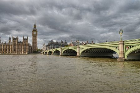 Terrific view of Westminster Bridge and Houses of Parliament, Lo
