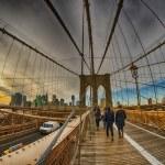 Strolling on Brooklyn Bridge in Winter - New York ...