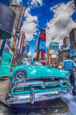 NEW YORK - MAY 22: Old car in Times Square, May 22, 2013 in New