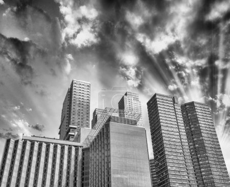 Photo for Manhattan, New York. Classic city skyscrapers view from street level. - Royalty Free Image