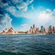 Skyline of Sydney from the sea....