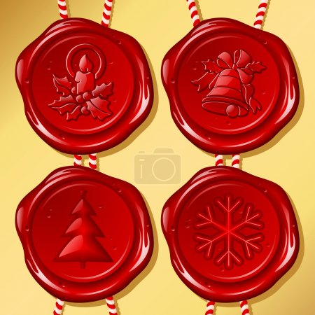 Set of Christmas sealing wax