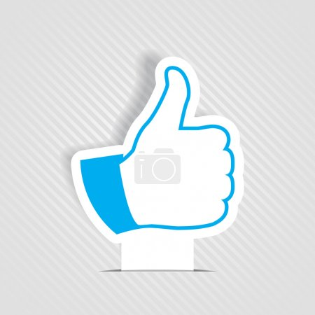 Illustration for Vector illustration of thumb up like symbol - Royalty Free Image